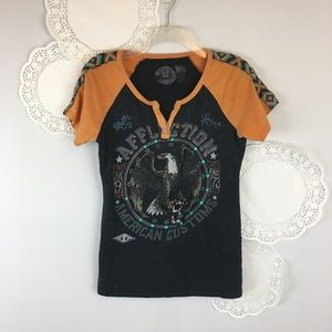 Affliction Eagle Tee Top Size Medium